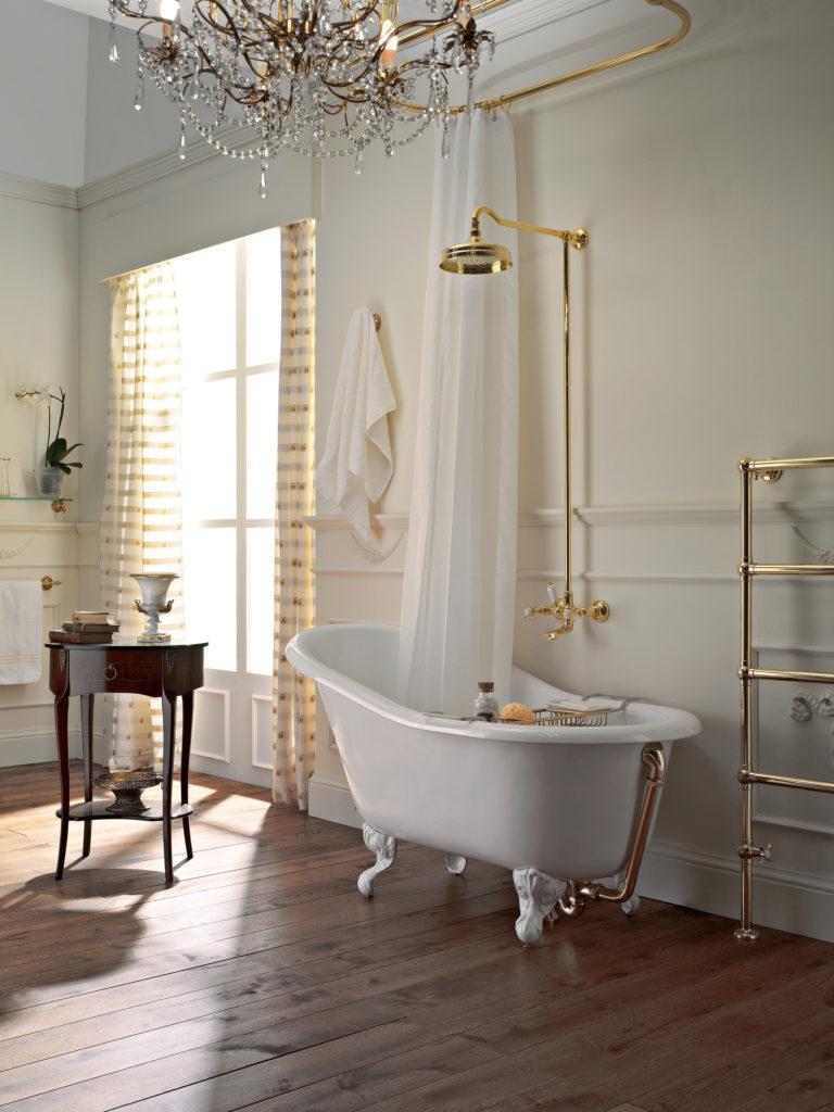 Salle de bain rétro : élégance à l\'ancienne et matériaux ...
